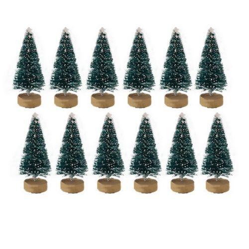 Mini Christmas Pine Tree Decor (12 pcs)