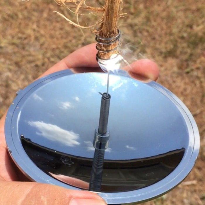 Portable Camping Mirror Solar Lighter