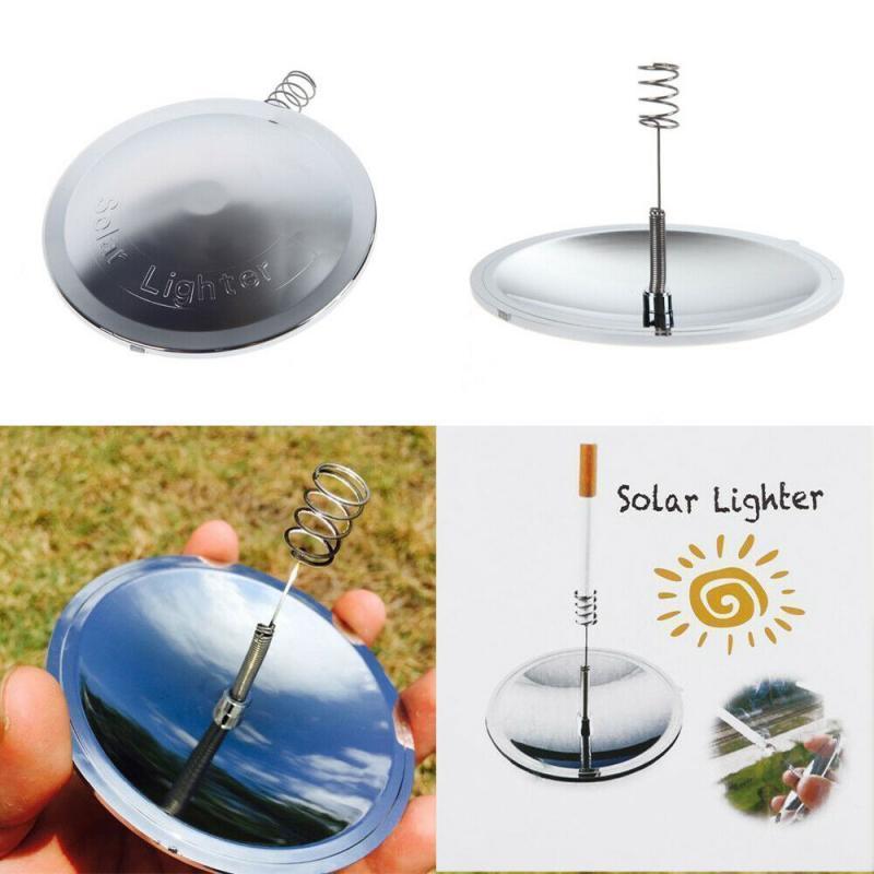 Outdoor Solar Lighter Camping Survival Fire Waterproof & Windproof Fire Starter Outdoor Emergency Tool Gear Accessories New 8