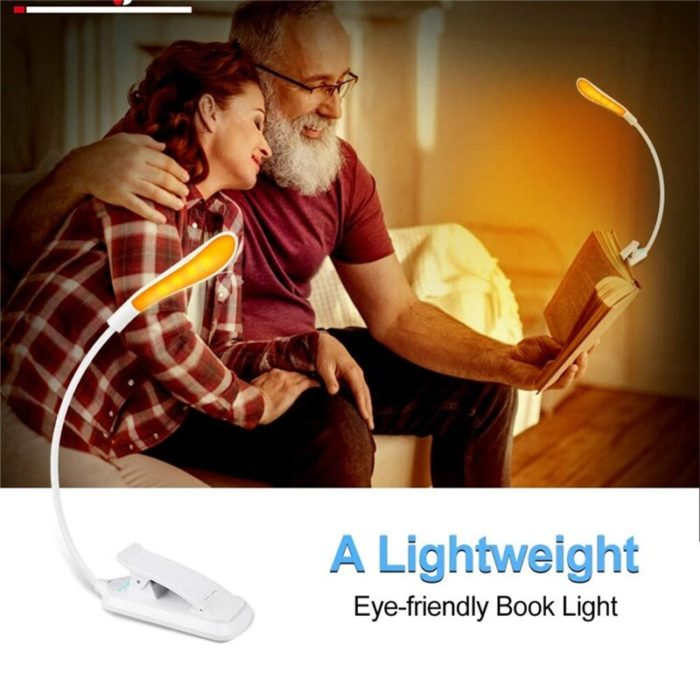 USB Rechargeable Clip On Reading Lamp
