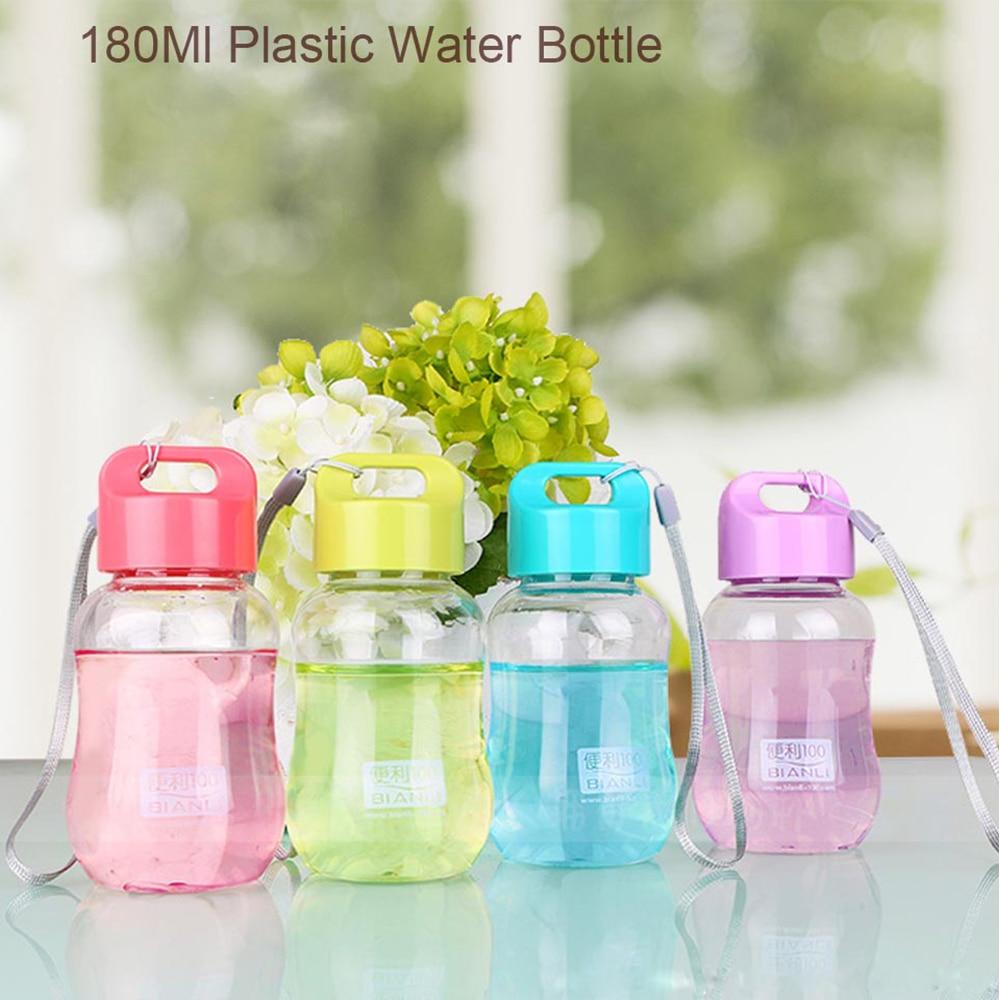 1PC180Ml Portable Plastic Leak Proof Colorful Water Bottle School Water Cup Mini Cute Drinkware For Children Kids Accessories
