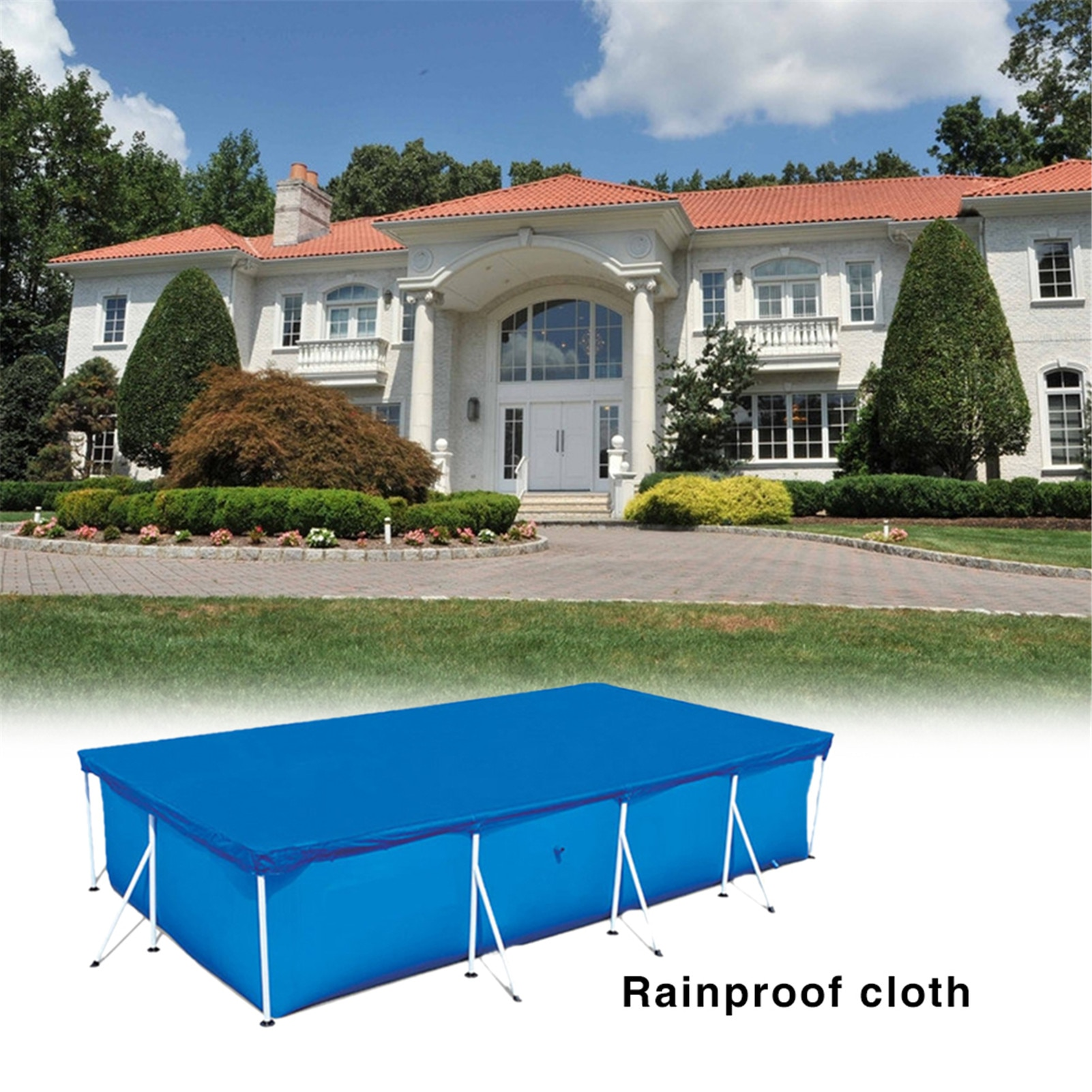 Rectangular Pool Cover Tarpaulin Solar Swimming Pool Protection Cover Heat Insulation Film For Indoor Outdoor Pool Accessories