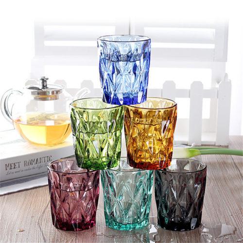 Colorful Drinking Glass Set (4 Pcs)
