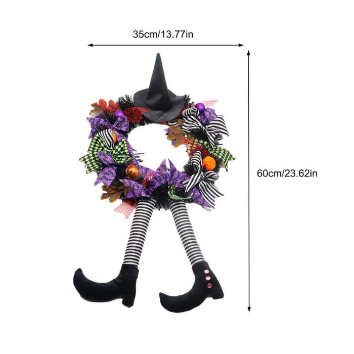 Hanging Halloween Wreath Decor