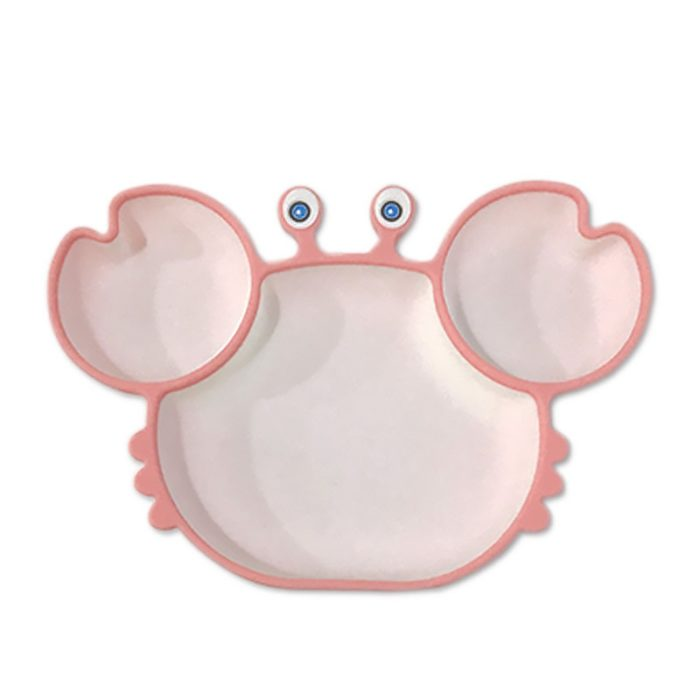Children's Plate with Sections Non-Slip Plate