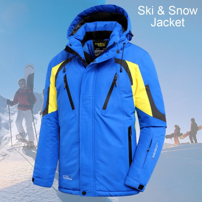 Hooded Winter Jacket for Men Casual Outerwear