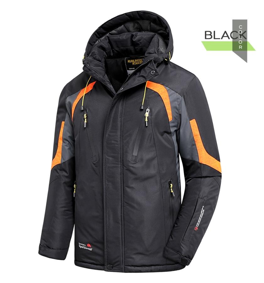 Men Winter New Outdoor Jet Ski Premium Snow Warm Parkas Jacket Coat Men Outwear Casual Hooded Waterproof Thick Fleece Parka Men