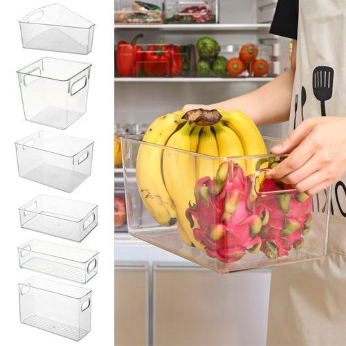 Transparent Refrigerator Organizer Bin