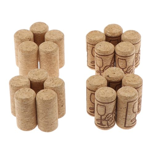 Wooden Cork Wine Stoppers (10pcs)