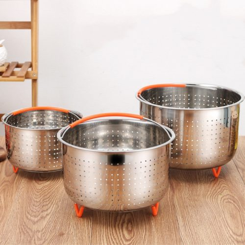 Stainless Steel Steamer Basket with Handle