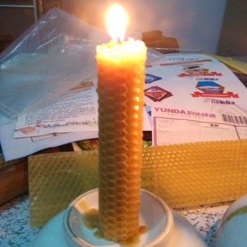 Handmade Natural Beeswax Candles (30 pcs)