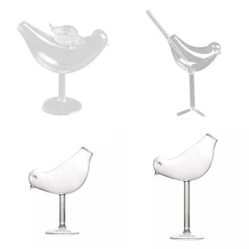 Cocktail Bird Wine Glass