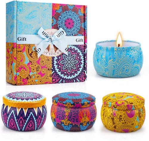 Tin Container Scented Candle Gift Set