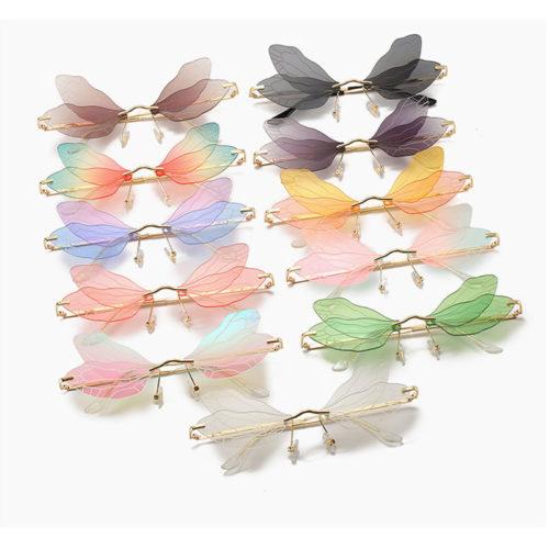Dragonfly Wings Sunglasses Rimless Eyewear